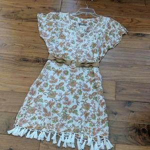 Silk printed Dress